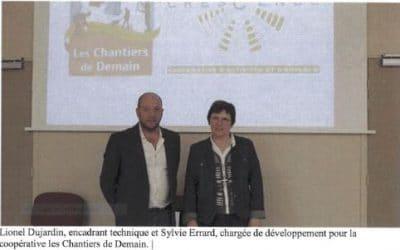 Présentation de la coopérative par les gérants Sylvie ERRARD et Lionel DUJARDIN