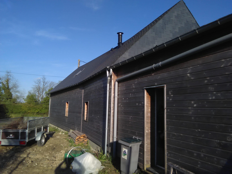 isolation par l'extérieur du bâti ancien laine de bois et bardage bois