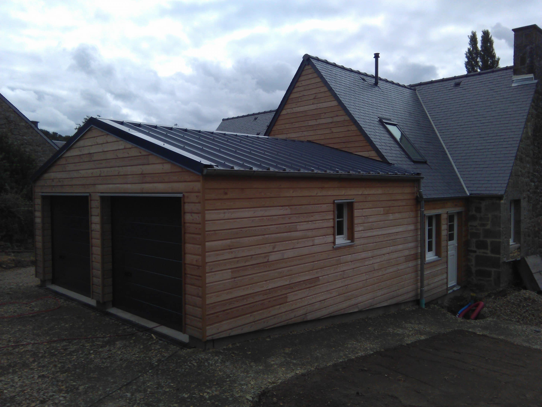 extension et garage en ossature bois