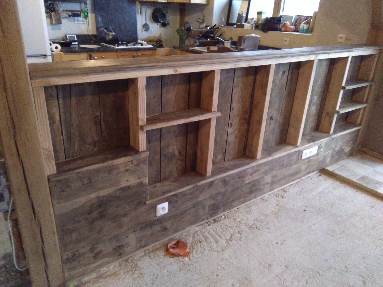 aménagement intérieur en bois de récupération