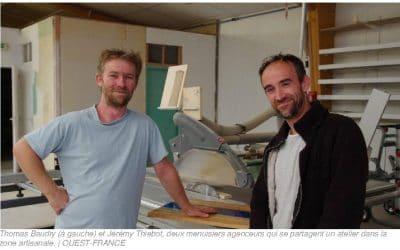 Deux menuisiers agenceurs se partagent un atelier