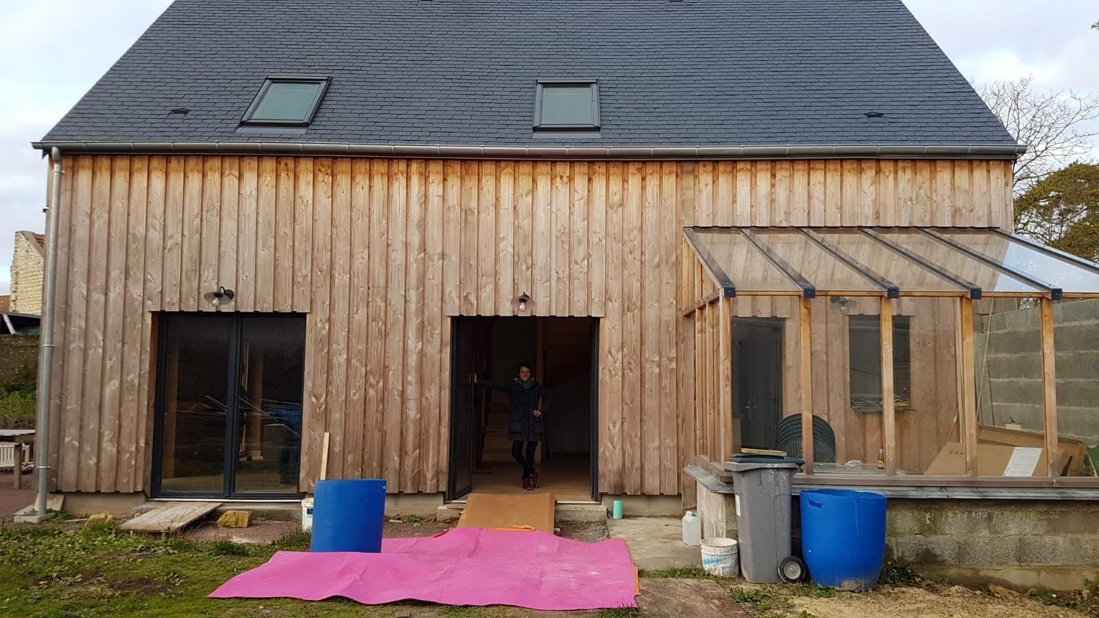 Maison ossature bois, isolation paille